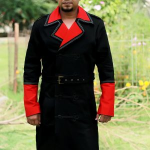 Imperial Guard Black Long Trench Coat