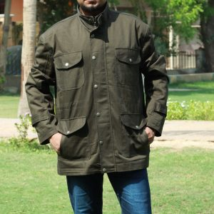 Stylish look 4 Pocket Design Pretty Green Jacket