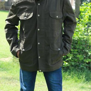 Stylish look Four Pocket Design Pretty Green Jacket