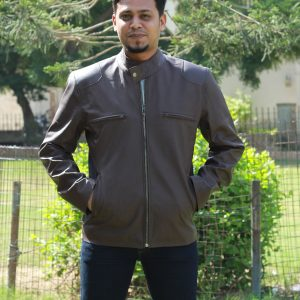 Classic Brown Leather Jacket