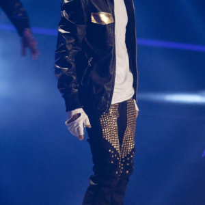 Justin Quilted Studded Leather Pant Jacket