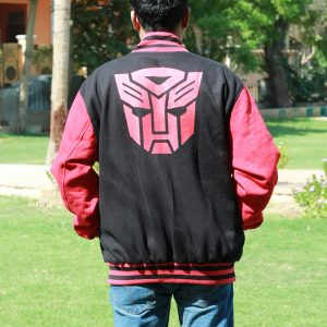 Men's Transformers Logo Varsity Jacket