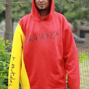 Yellow and Red Split Hoodie