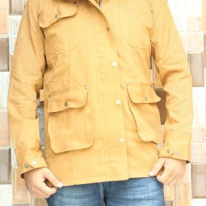 Camille Brown Button Down Jacket for Men