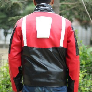 A Young Men Wearing spiderman cosplay jacket